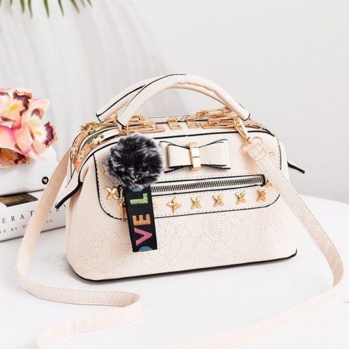 B0007-beige Tas Doctor Bag Import Wanita Elegan