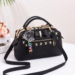 B0007-black Tas Doctor Bag Import Wanita Elegan