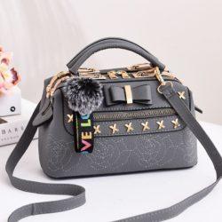 B0007-gray Tas Doctor Bag Import Wanita Elegan
