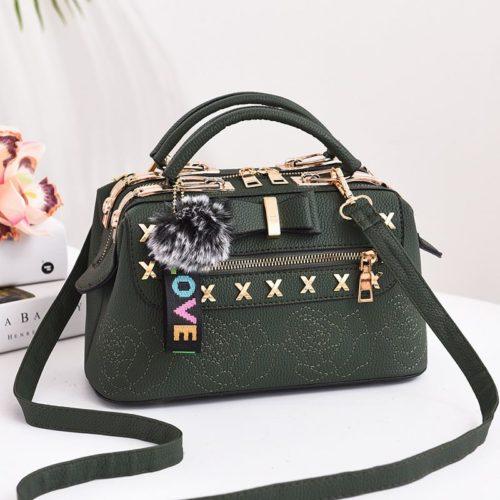 B0007-green Tas Doctor Bag Import Wanita Elegan