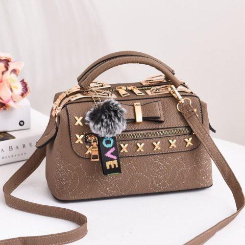 B0007-khaki Tas Doctor Bag Import Wanita Elegan