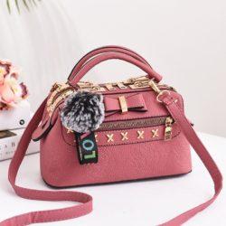 B0007-pink Tas Doctor Bag Import Wanita Elegan