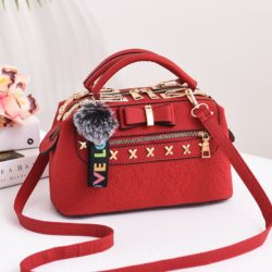 B0007-red Tas Doctor Bag Import Wanita Elegan