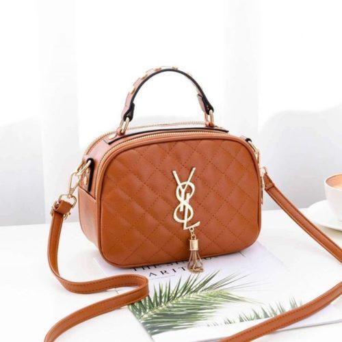 B0022-brown Tas Selempang Fashion Wanita Cantik Import