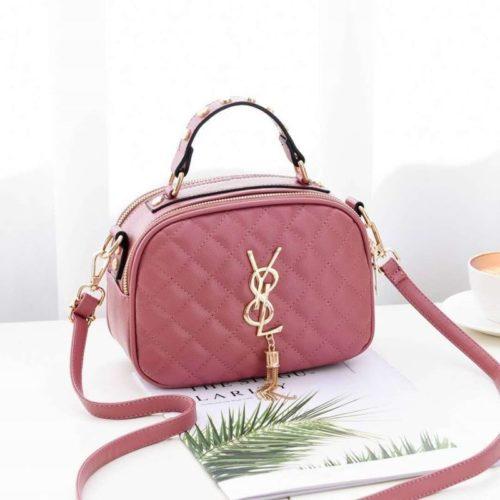 B0022-pink Tas Selempang Fashion Wanita Cantik Import