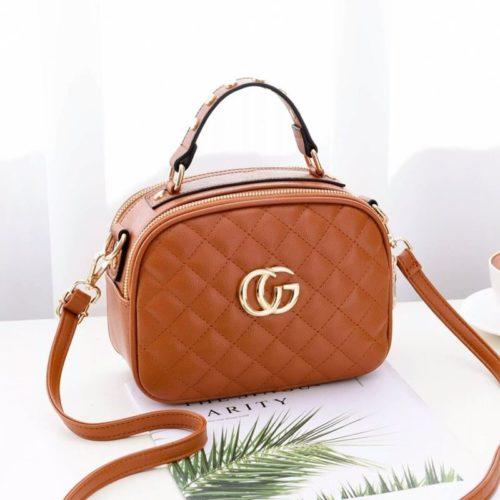 B0023-brown Tas Selempang Wanita Modis Import