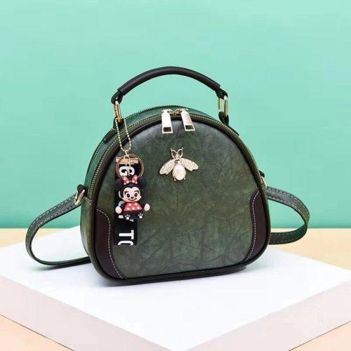 B0025-green Tas Selempang Cantik Gantungan Minnie Import