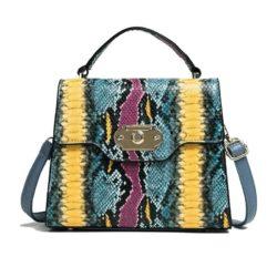 B00857-blue Tas Handbag Wanita Elegan Import Terbaru