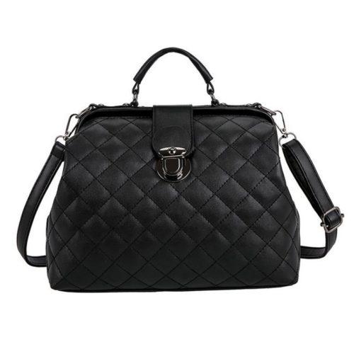 B010-black Tas Doctor Bag Selempang Wanita Elegan Import