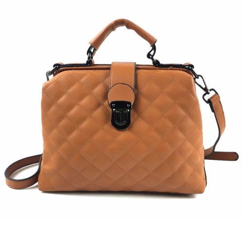 B010-brown Tas Doctor Bag Selempang Wanita Elegan Import