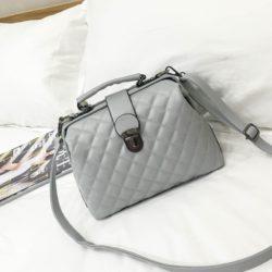 B010-gray Tas Doctor Bag Selempang Wanita Elegan Import