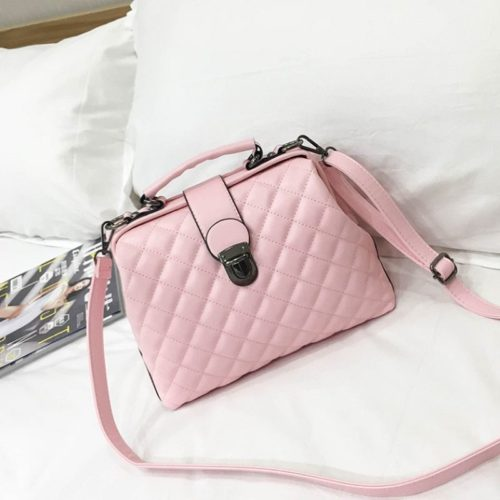 B010-pink Tas Doctor Bag Selempang Wanita Elegan Import