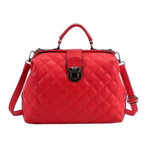 B010-red Tas Doctor Bag Selempang Wanita Elegan Import