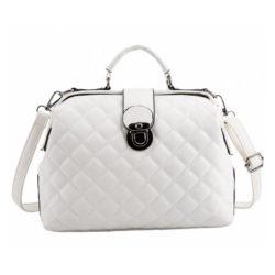 B010-white Tas Doctor Bag Selempang Wanita Elegan Import