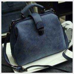 B010A-blue Tas Doctor Bag Selempang Wanita Elegan Import