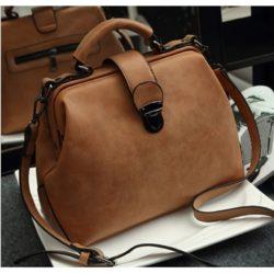 B010A-brown Tas Doctor Bag Selempang Wanita Elegan Import