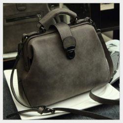 B010A-gray Tas Doctor Bag Selempang Wanita Elegan Import