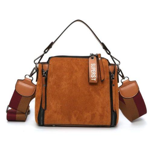 B0115-brown Tas Selempang Cantik Modis Kekinian