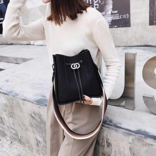 B0159-black Tas Selempang Wanita Stylish Import Terbaru
