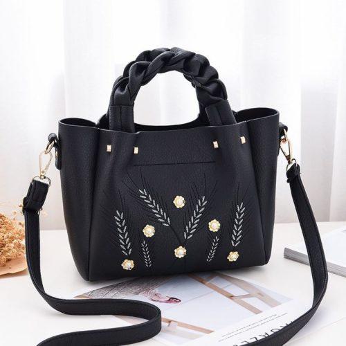 B01872-black Tas Handbag Wanita Elegan Modis Kekinian