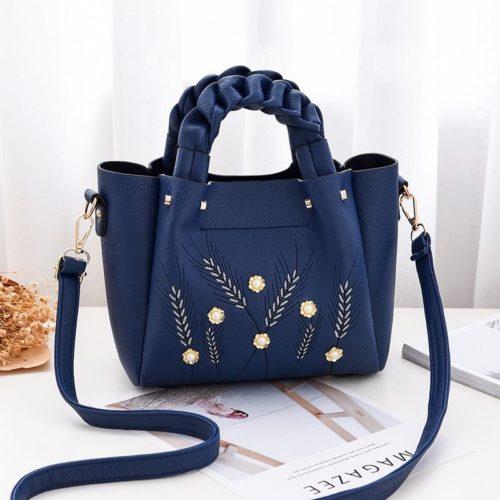 B01872-blue Tas Handbag Wanita Elegan Modis Kekinian