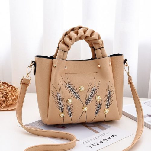 B01872-khaki Tas Handbag Wanita Elegan Modis Kekinian