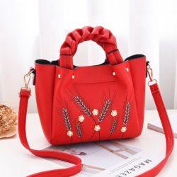B01872-red Tas Handbag Wanita Elegan Modis Kekinian