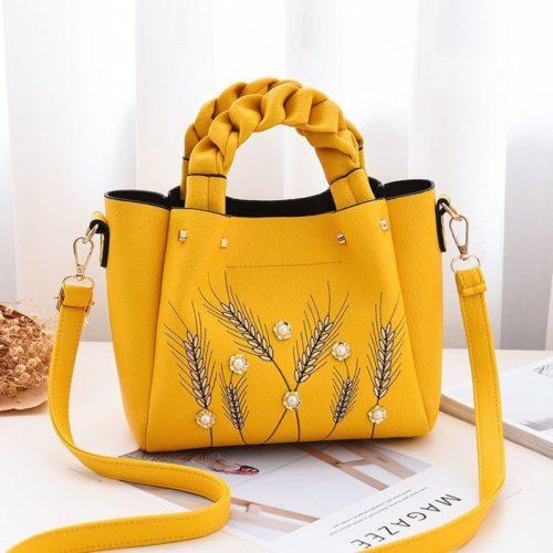B01872-yellow Tas Handbag Wanita Elegan Modis Kekinian