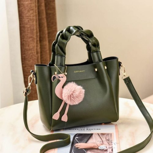 B0197 JKT MATERIAL PU SIZE L23XH20XW12CM WEIGHT 750GR COLOR GREEN