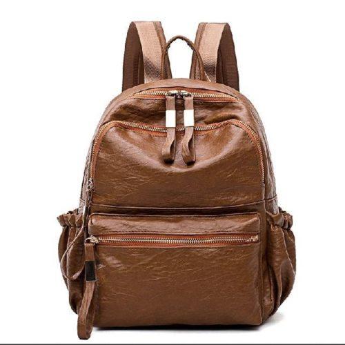 B0224-brown Tas Ransel Wanita Stylish Cantik Import