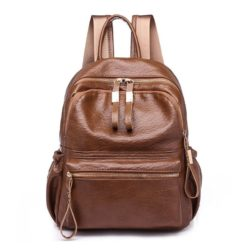 B0224 JKT IDR.168.000 MATERIAL PU SIZE L27XH30XW17CM WEIGHT 550GR COLOR BROWN