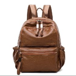 B0224-brown Tas Ransel Modis Stylish Import Terbaru