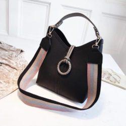 B02959-black Tas Selempang Wanita Kekinian Import