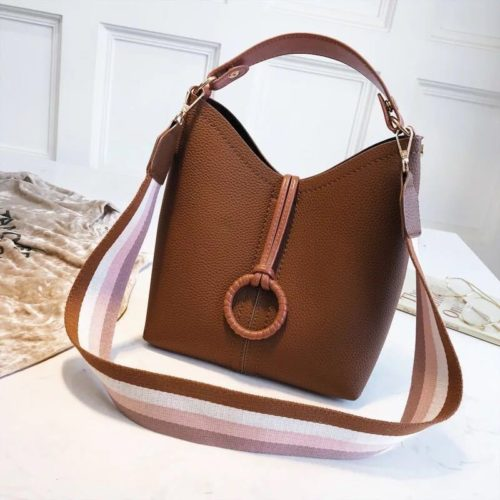 B02959-brown Tas Selempang Wanita Kekinian Import