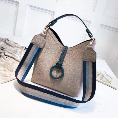 B02959-gray Tas Selempang Wanita Kekinian Import