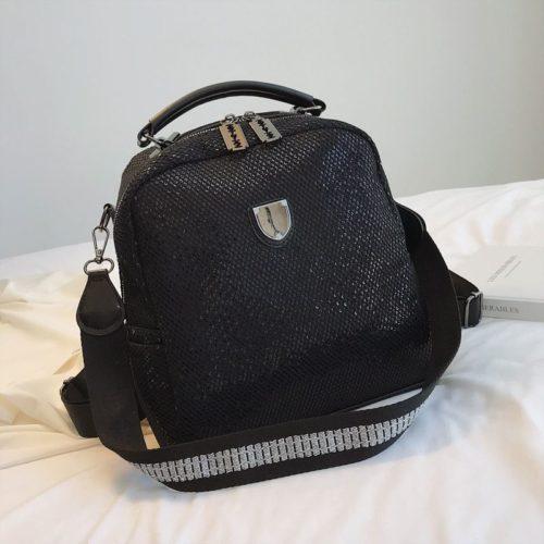 B0607-black Tas Selempang Fashion Import Bisa Ransel