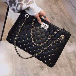 B08521-black Tas Handbag Wanita Elegan Import Terbaru