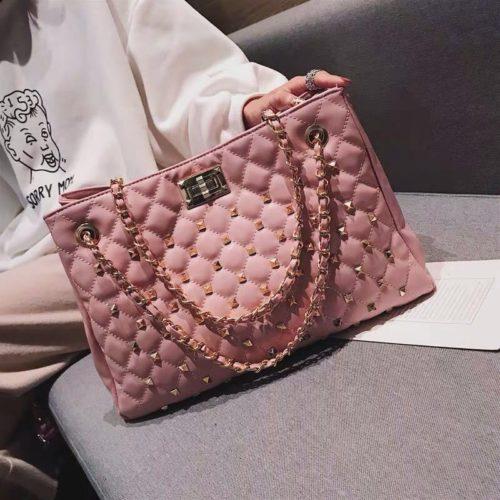 B08521-pink Tas Handbag Wanita Elegan Import Terbaru
