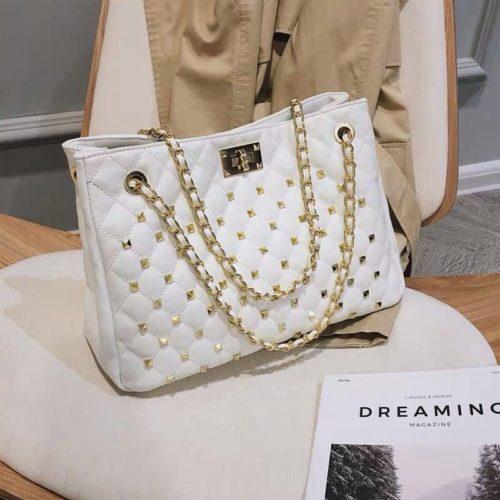B08521-white Tas Handbag Wanita Elegan Import Terbaru