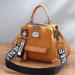 B1035-brown Tas Ransel Selempang Homme+Femme Wanita Cantik