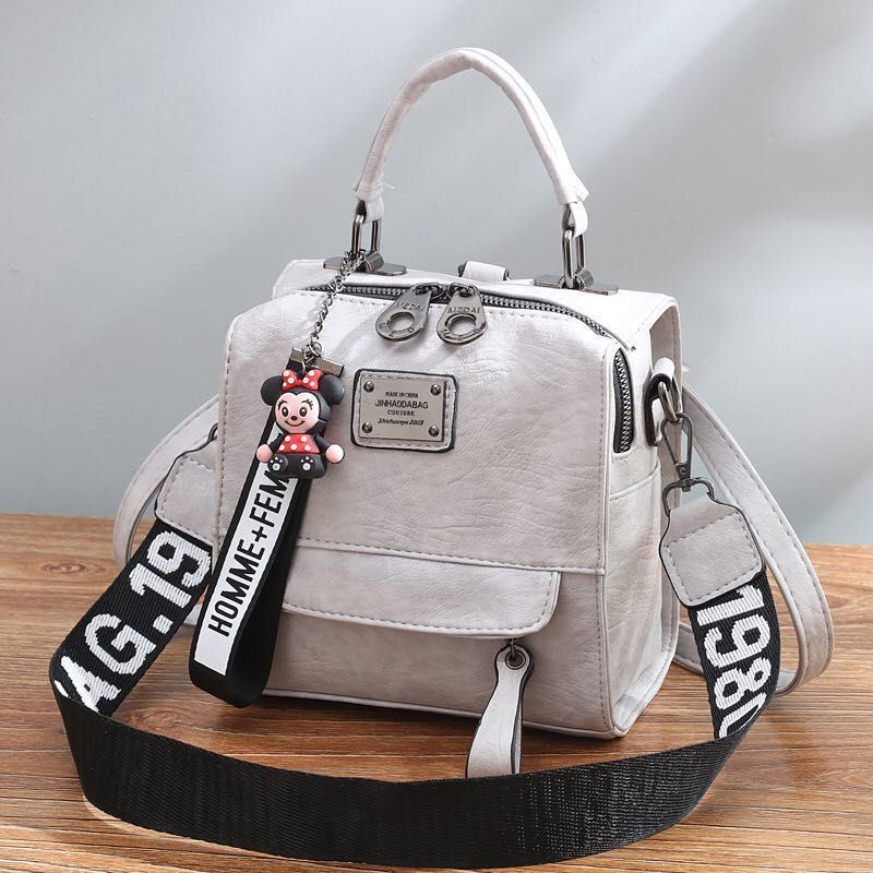 B1035 JKT IDR.172.000 MATERIAL PU SIZE L19XH20.5XW12CM WEIGHT 650GR COLOR GRAY