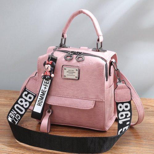 B1035-pink Tas Ransel Selempang Homme+Femme Wanita Cantik