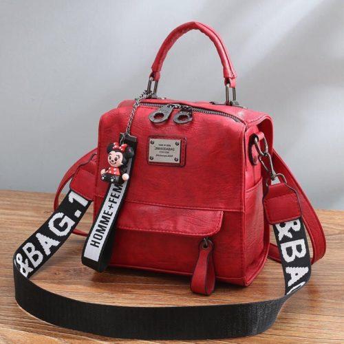 B1035-red Tas Ransel Selempang Homme+Femme Wanita Cantik