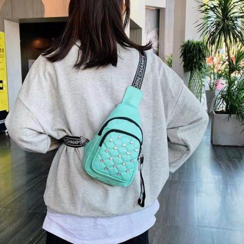 B1039-green Sling Bag Fashion Wanita Elegan Import