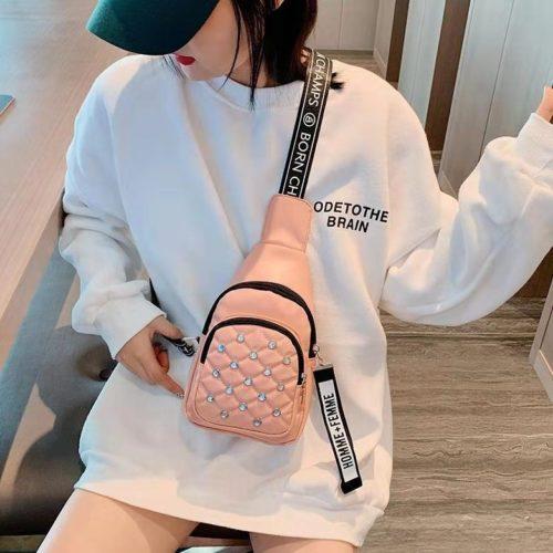 B1039-pink Sling Bag Fashion Wanita Elegan Import