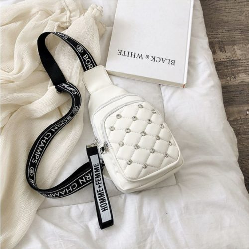 B1039-white Sling Bag Fashion Wanita Elegan Import