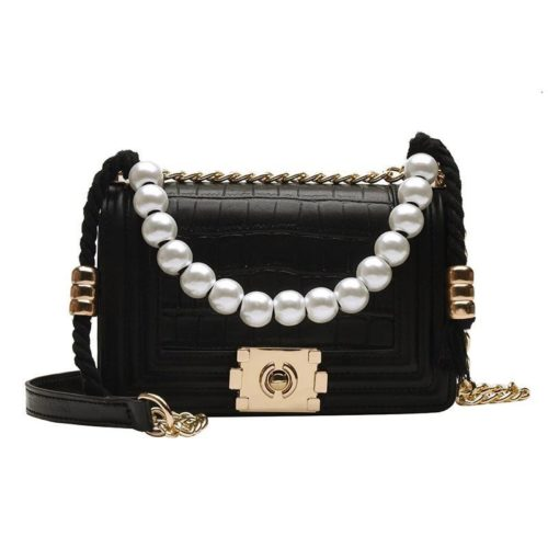 B10531-black Tas Clutch Selempang Elegan Pearl Wanita