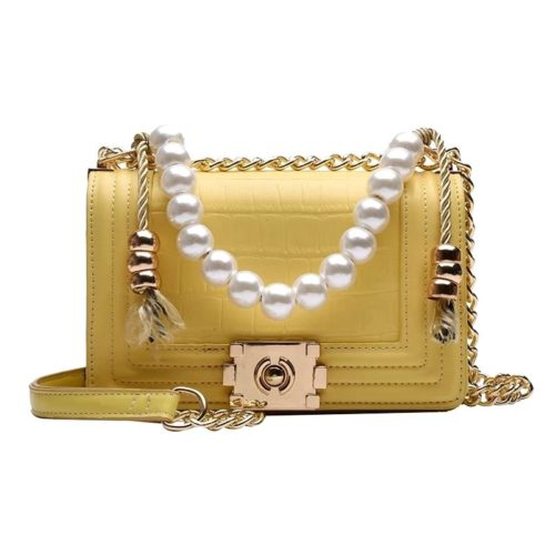 B10531-yellow Tas Clutch Selempang Elegan Pearl Wanita