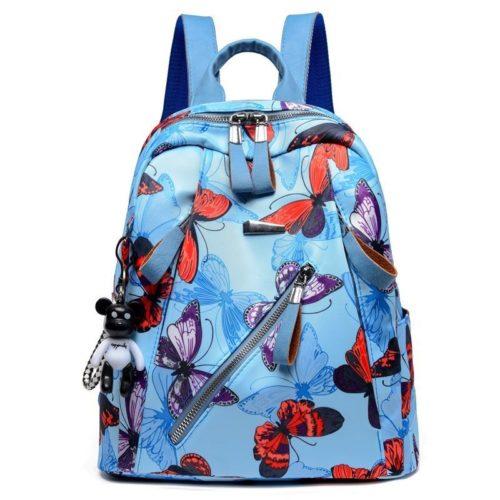 B1155-bluered Tas Ransel Fashion Wanita Cantik Terbaru