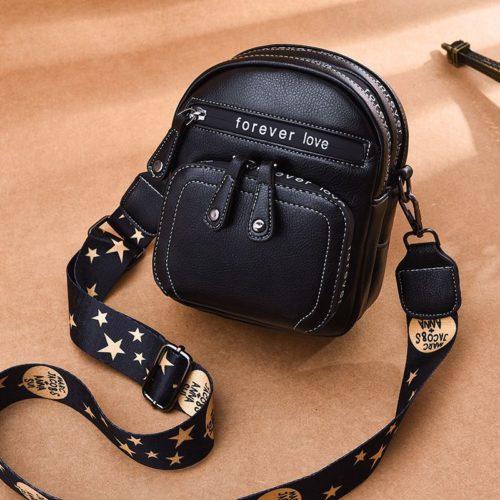 B1335-black Tas Selempang Mini Fashion Wanita Cantik